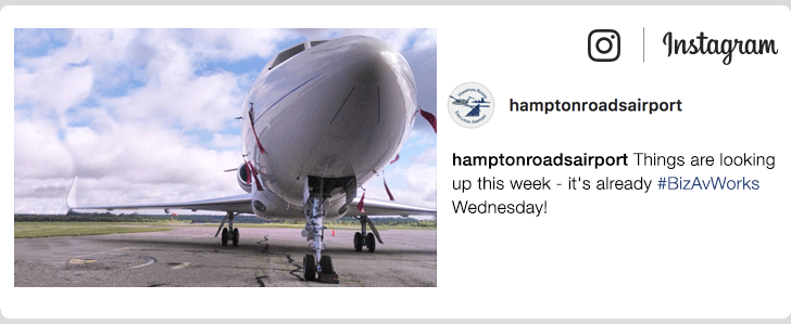 hamptonroadsairport - Things are looking up this week - it's already #BizAvWorks Wednesday!