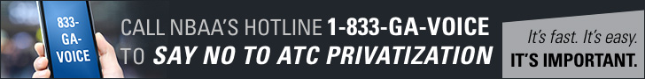CALL NBAA'S HOTLINE AT 1-833-GA-VOICE TO SAY NO TO ATC PRIVATIZATION