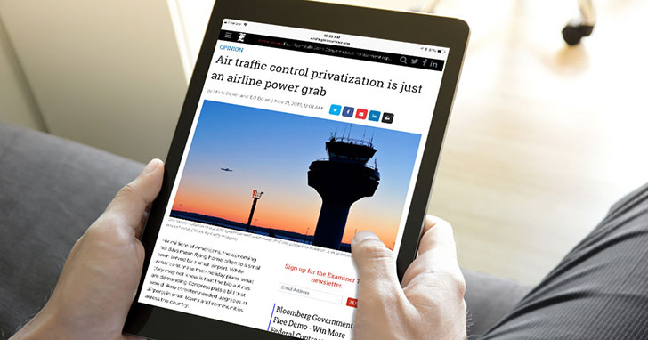 NBAA, AOPA Say ATC Privatization Is Just an Airline Power Grab