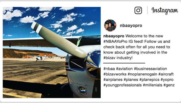 Welcome to the new #NBAAYoPro IG feed! Follow us and check back often for all you need to know about getting involved in the #bizav industry!
