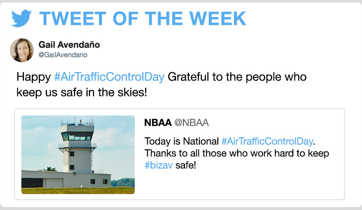 @GailAvendano - Happy #AirTrafficControlDay Grateful to the people who keep us safe in the skies!