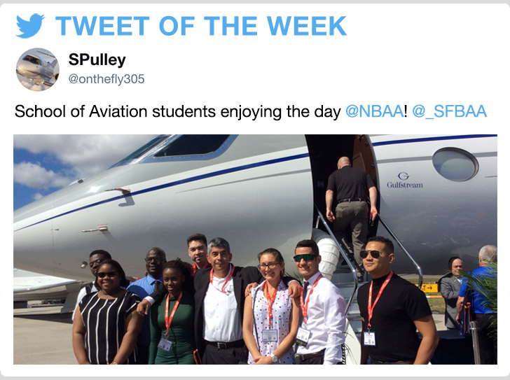 @onthefly305‏ - School of Aviation students enjoying the day @NBAA!