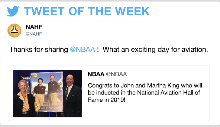 @NAHF‏ - Thanks for sharing @NBAA !  What an exciting day for aviation.