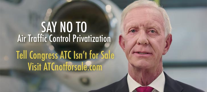 Hero Pilot Sullenberger's New Video Argues Against ATC Privatization