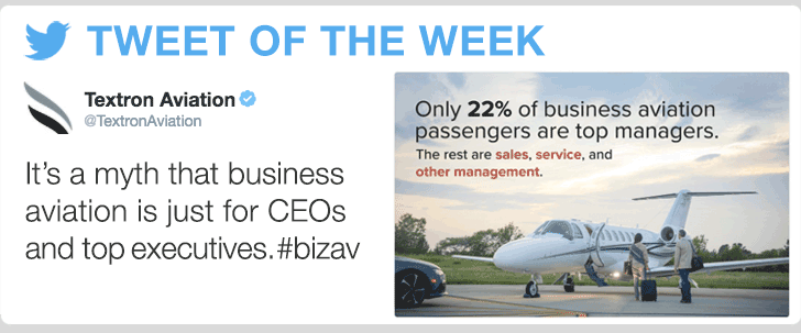 @TextronAviation- It's a myth that business aviation is just for CEOs and top executives. #bizav