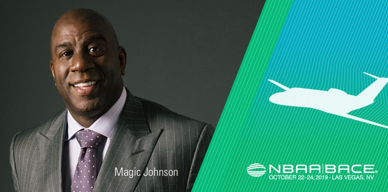Basketball Legend Magic Johnson to Deliver Day 1 Keynote at NBAA-BACE