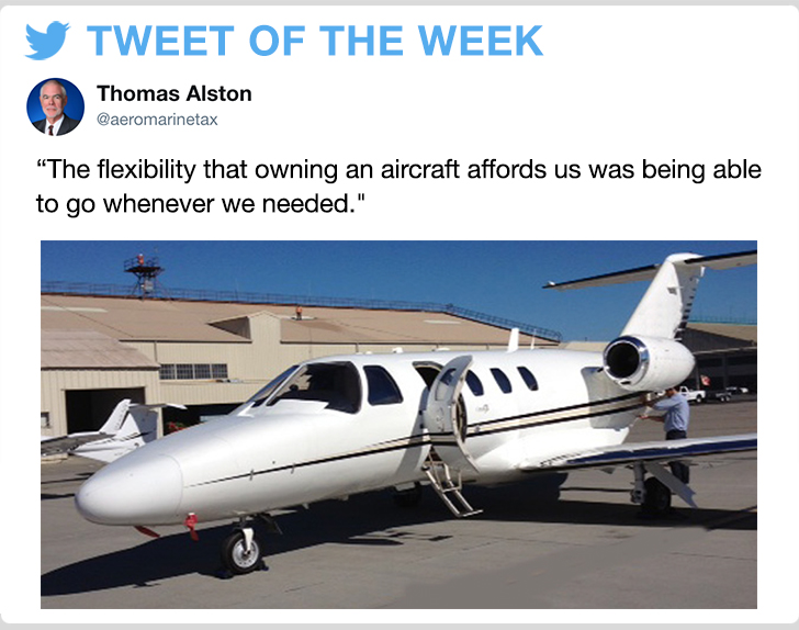 @aeromaxmarinetax - The flexibility that owning an aircraft affords us was being able to go whenever we needed