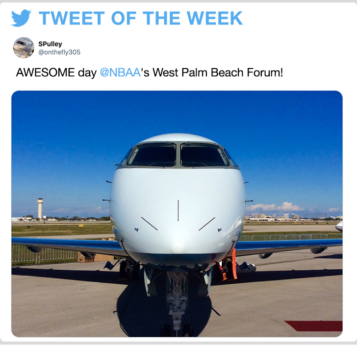 @onthefly305 - AWESOME day @NBAA's West Palm Beach Forum!