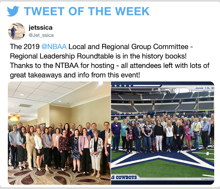 @Jet_ssica - The 2019 @NBAA Local and Regional Group Committee - Regional Leadership Roundtable is in the history books! Thanks to the NTBAA for hosting - all attendees left with lots of great takeaways and info from this event!